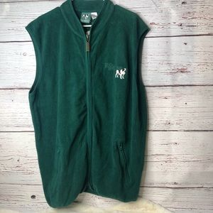 Big Dogs Fleece Vest Green New with Tags Large